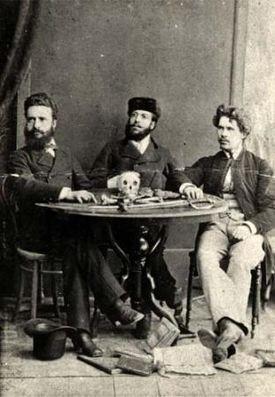 Христо Ботев с Никола Славков и Иван Драсов в Румъния, 1875 г.